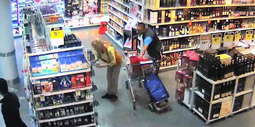 Bild Überwachungskamera eins Diebstahls